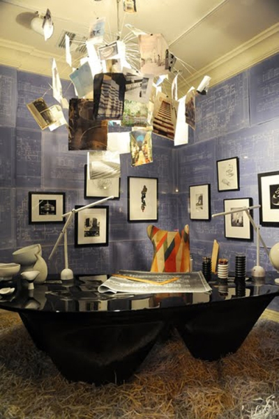 Bausman window display by Interior Designer Oliver Furth honoring The Fountainhead