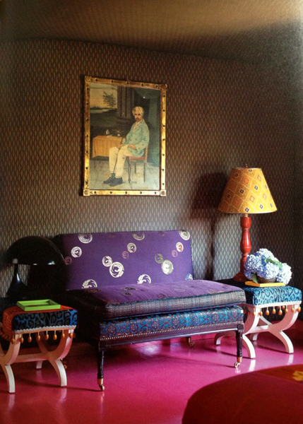 Muriel Brandolini Fabric Walls and Ceiling