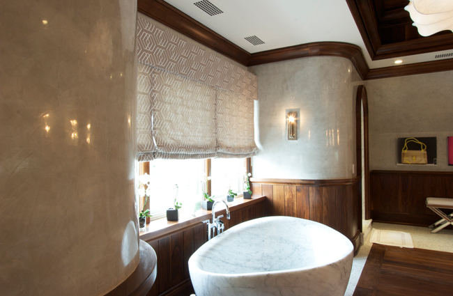 Authentic Limestone Plaster by SuperStrata in a Master Bath