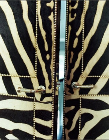 Zebra doors by Miles Redd