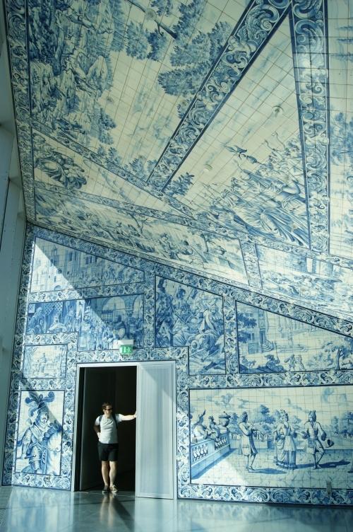 Awe inpisiring tile in Casa da Música in Sala Barroca