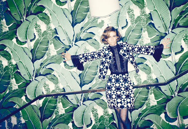 Palm Wallpaper at the Greenbrier, decorated by Dorothy Draper in a 2012 spread by Bergdorfs