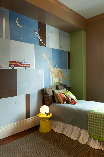 Children's room mural by Sam Simon