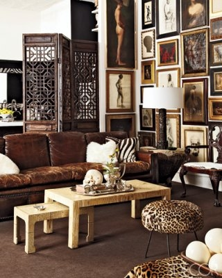 William Frawley living room in Elle Decor