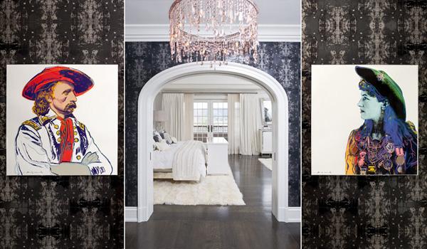 Ink Blot wallpaper in an Nicole Fuller Interior.