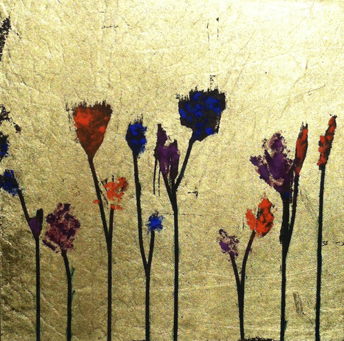 Vampire's Garden, a custom tattooed leather wallcovering by Nicole Fuller Interiors