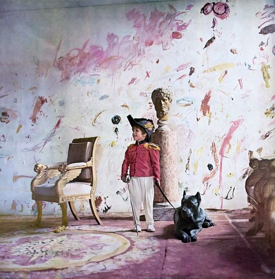 Cy Twombly's Roman Apartment photographed by Horst P. Horst for Vogue in 1966.